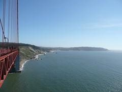 Pacific Ocean and Golden Gate Bridge