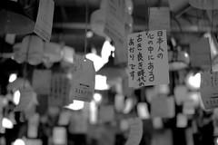 (genochio) Tags: blackandwhite bw japan shop kyoto labels hanging japanesewriting lightshades lightshop