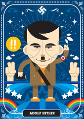 Dikt 04 / Adolf Hitler (francescoporoli) Tags: illustration hitler adolf vektor diktatores