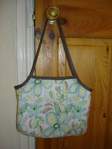 floral side of bias tape bag
