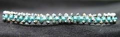 TurqRiv4 (twocrickets) Tags: cute sweet jewelry sparkle swarovski bling glittery petite dainty beadwork costumejewelry bicones 3mm beadweaving weddingjewelry tennisbracelet swarovskibeads magneticclasp beadweave crystalbracelet crystalbeadwork