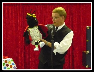 Ventriloquist Mark Wade