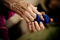 Forever Young (knowsnotmuch) Tags: grandma toy hands dof funnyman wrinkles contrasts 82 pp explored 105vr