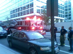 Firetruck Outside Apartment