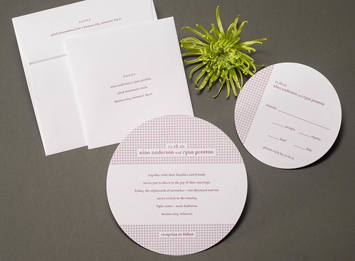 Unique Mini Circles Wedding Invitation