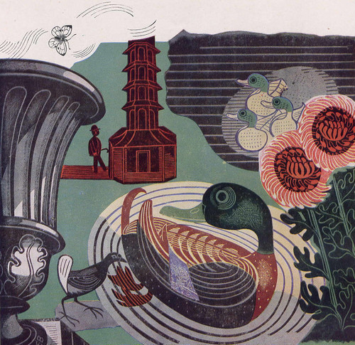 Kew Gardens by Edward Bawden 1936 (via If Charlie Parker)