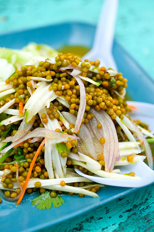 A salad of horseshoe crab eggs, Bang Saen