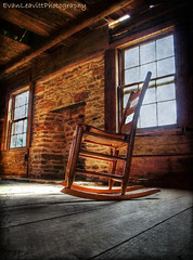The Rocker (evanleavitt) Tags: county wood light shadow texture rural ga georgia chair decay south hurricane country rustic olympus jackson weathered rocking hdr shoals the e510 photomatix