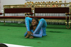 Truly Flexible (YY) Tags: people india yoga pose dance performance competition asana jamshedpur