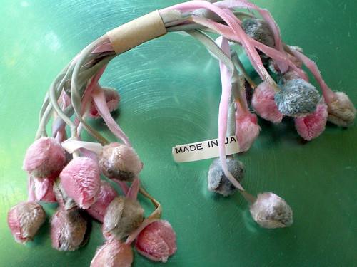 Vintage Velvet Japanese Millinery Rosebuds (two)