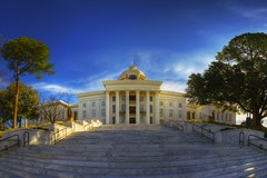 Alabama Capital Steps Pano (sunsurfr) Tags: blue panorama architecture pano capital alabama steps structure montgomery d200 hdr