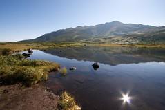 六ノ沼に映る山並み