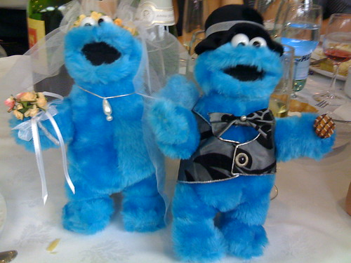 Mr. and Mrs. Cookie Monster