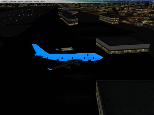 1a1. What happened to the fuselage's livery...its an eerie, glowing blue
