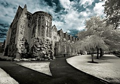 Ivy-stricken university (infrared). (coulombic) Tags: uk travel school vacation building castle architecture canon ir scotland education europe university unitedkingdom ivy palace structure aberdeen infrared 5d canon5d kingscollege canoneos colorinfrared universityofaberdeen digitalinfrared infraredfilter infraredcamera singlecolor canoneos5d cotcpersonalfavorite gabefarnsworth canonef1635mmf28l maxmaxcom theunforgettablepictures infraredlight canoninfrared scotlandinfrared converteddigitalcamera infrareddigitalphotography coulombic infraredscotland ldpllc canon5dinfrared canoneos5dinfrared 830nminfrared canoneosinfared ivyonkingscollege infrareduk unitedkindgominfrared infraredivy