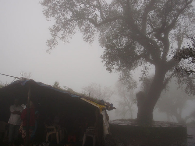 Sinhagad, on the top