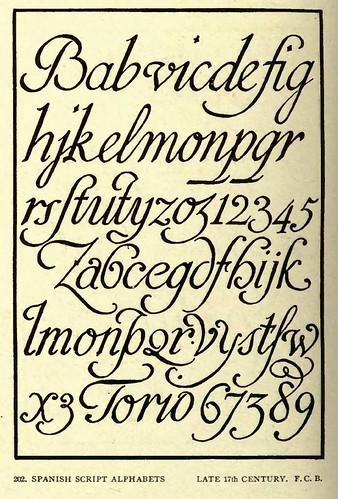 18- Caligrafia alfabetos españoles finales siglo XVII