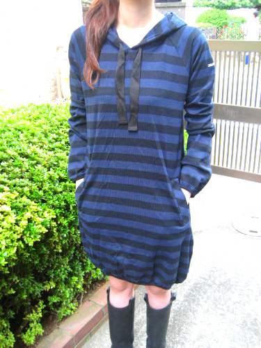 """Striped hoodie Dress"" from X-girl"