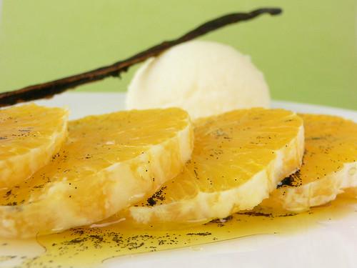 Orangen in Vanille-Olivenöl