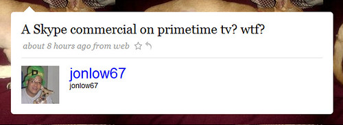on primetime tv? by you.