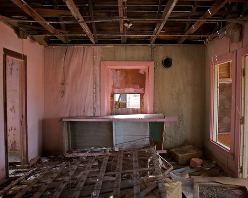 Pink Room, Abandoned Service Station, Vidal, California, Revisited