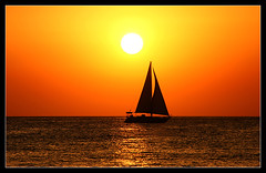 Sunset on Ibiza at Caf del Mar (Jan Ronald Crans) Tags: sunset orange silhouette sanantonio sailboat boot boat zonsondergang spain explore ibiza 2008 spanje oranje zeilboot cafdelmar