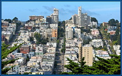 San Francisco hill (Mike G. K.) Tags: sanfrancisco california road street streets buildings cityscape view hill sharp winding uphill turns slope crooked lombard steep str crookedest aligned abigfave platinumheartaward mikegk:gettyimages=submitted