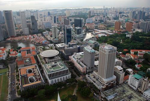 Singapore skyline bird's eye view from Equinox level 69