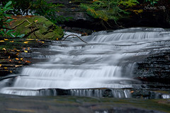Waterfall... (Shane_A) Tags: green water leaves waterfall moss rocks co rabun minnehahafalls