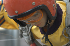 sky diver (sektoid) Tags: red macro yellow d50 germany munich geotagged bavaria model nikon doll skydive parachute flugwerft oberschleissheim sektoid