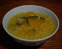 Dinner: Kabocha porridge