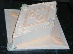 60th birthday (www.cakecorner.net) Tags: cake derbyshire traditional peach royal diamond icing iced 60 glossop bsg weddingcakes royalicing windyharbour cakecorner wmacoctober08 cakecornernet traditionalroyalicing royalicedcakes wwwcakecornernet glossopcakemakers derbyshiresugarcraft derbyshirecakes weddingcakesinderbyshire sugarcraftguild sugarartan