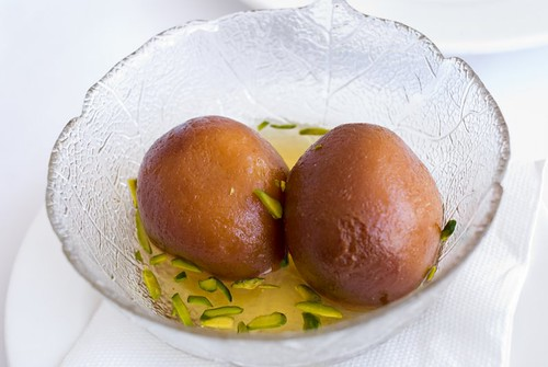 Gulab Jamun (Milk Dumplings Flavoured with Saffron and Cardamom)