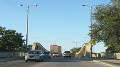 The South California Avenue bridge over the Chicago Sanitary and Ship Canal. Chicago Illinois. October 2008.