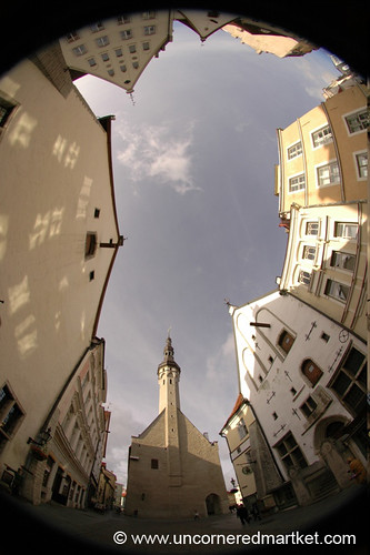 A Fisheye View of Tallinn's Old Town