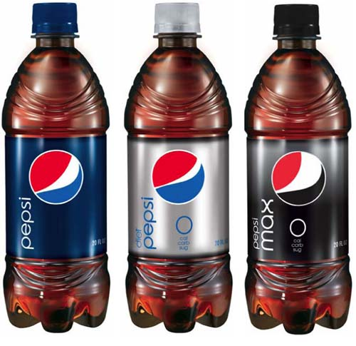 Botellas de Pepsi nuevo logo