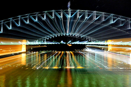 Sydney Harbour Bridge superimposed