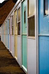 Rooms to Let (julian fraser photography) Tags: beach nikon pastel huts devon fullframe fx beachhuts sidmouth 2470mm changingrooms pastelcolours d700