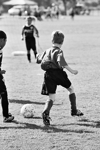 Soccer Photos in B&W