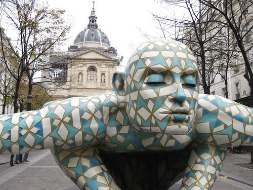 Place de la Sorbonne à l'occasion d'une ballade
