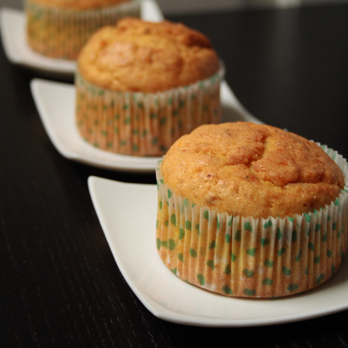 Pumpkin and almond muffin