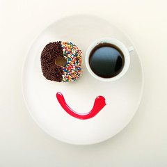 My 'Happy Meal' Version... (RR) Tags: morning food white playing hot silly art cup coffee colors smile face goofy breakfast dessert fun happy yummy cafe strawberry colorful warm different with candy awakening sweet good chocolate cara humor content tasty plate sugar sprinkles smiley donut doughnut meal pastry syrup sorriso waking feliz felice sourire nourriture cibo happymeal anthropomorphic playingwithfood glcklich mutlu  heureux nahrung manha frhlich anthropomorph biscotto   antropomrfico partofthe antropomorfico anthropomorphe      spreadhumorcoalition brincandocomacomidablog