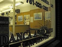 Office Window after Dark (denizen8) Tags: window night bench counter massachusetts malden insuranceagency taxservice denizen8 sailingshippictures img7143a dancaassociates