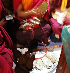 "Preparing the ""Five Dhyana Buddha Crowns"" for Initiation, Tharlam Monastery, Boudha, Kathmandu, Nepal (Wonderlane) Tags: nepal yoga religious for five buddha buddhist buddhism tibetan kathmandu spiritual dhyana tantra esoteric initiation boudha crowns sakya tibetanbuddhism vajrayana wonderlane 6538 lamdre tharlammonastery highestyogatantra flickrsmasterpieces"