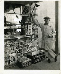 Dad Bailey and His Stand (Bodie Bailey) Tags: family history blackwhite losangeles newsstand magazines charlesbailey