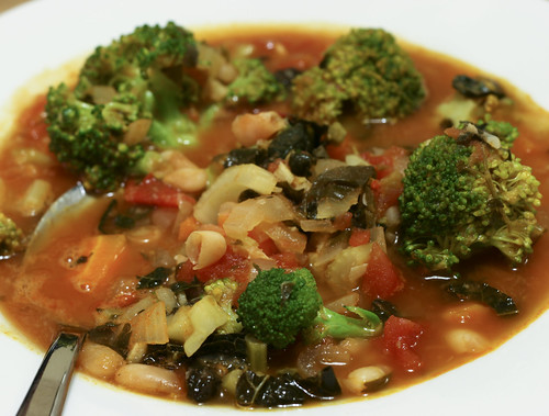Tomato and White Bean Soup with Broccoli