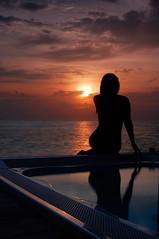 Sunset (Dan & Luiza from TravelPlusStyle.com) Tags: tranquility maldives conrad rangali