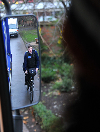 The Council gave cyclists an opportunity to see the road from a HGV driver's viewpoint