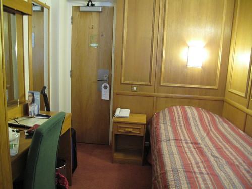 Tiny hotel room