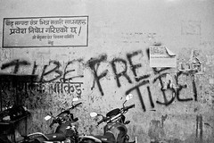 Free Tibet ! (Jeff Bauche._.)) Tags: voyage travel nepal blackandwhite bw film photography graffiti freedom blackwhite words travels noiretblanc free nb tibet ilfordhp5 roll hp5 graff freetibet argentique nepali voyages noirblanc npal pellicule ilfordhp5400 bauche nepalais npalais aplusphoto jeffbauche jeanfranoisbauche jeffbauche jeffbauchehotmailcom